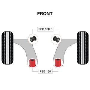 160 160F diagram Red Polyurethane Bushing BLK-V2-01-01