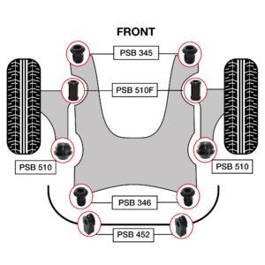 4 FRONT LOWER CONTROL ARM BUSHING FITS NISSAN X-TRAIL ROGUE QASHQAI LAFESTA