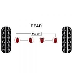 Mini R50,52,53,55,56,57,58,59,60,61 Rear Upper//Lower Lateral Arm Bush Kit 01-16