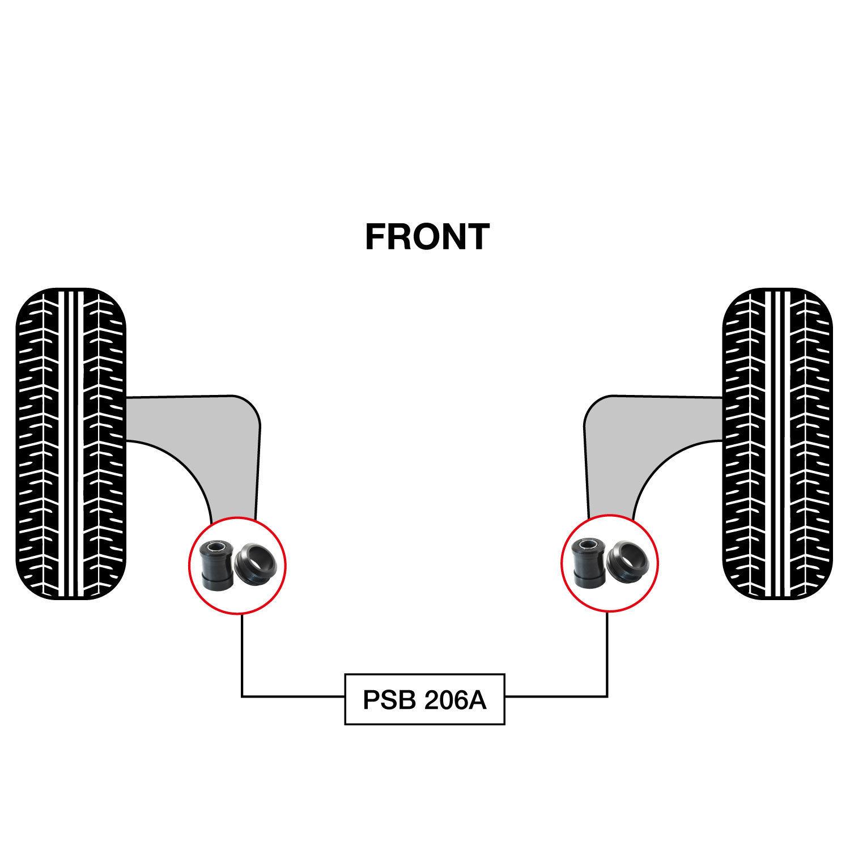 OEM 4806859145 REAR ARM BUSHING FRONT ARM