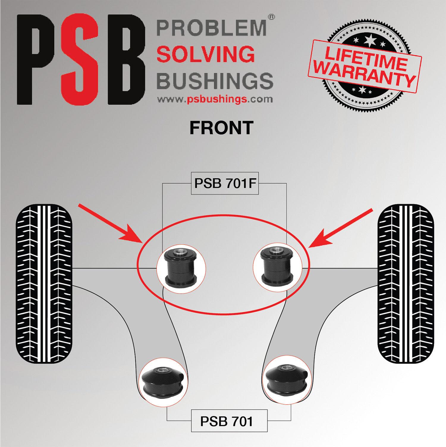 2 x VW Passat B8 Polyurethane PSB Front Lower Arm Front Bushing 2015 - 2017