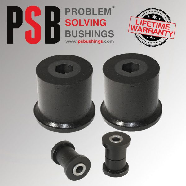 VW Polo MK4 Complete Front Wishbone PSB Poly Polyurethane Bush Kit 02 - 09 BLACK