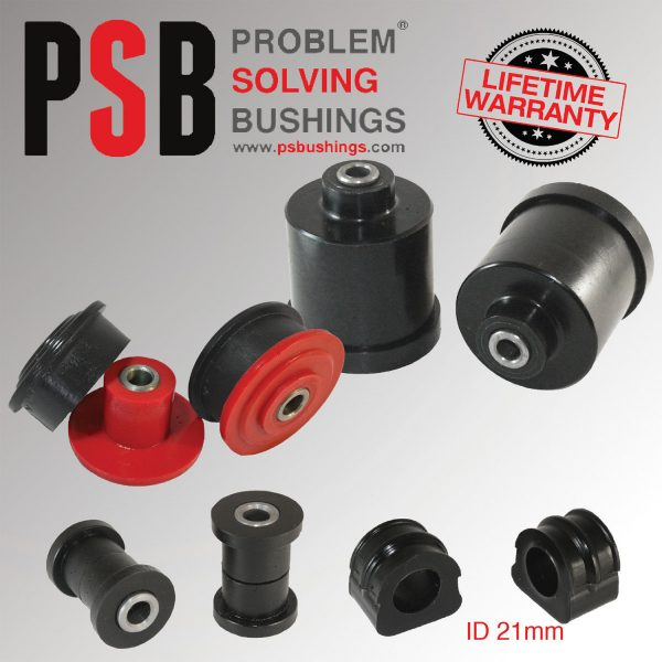 VW Bora MK4 Front Wishbone / Anti Roll 21mm / Axle Beam Poly Bush Kit 99-05 - PSB148/147P/700-21/197