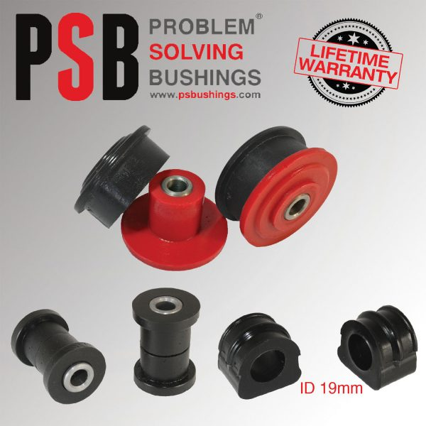 VW Golf MK4 Front Wishbone / Anti Roll Bar (19mm) Poly PSB Bushing Kit 97 - 04