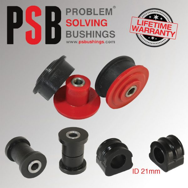 VW Golf MK4 Front Wishbone / Anti Roll Bar (21mm) Poly PSB Bushing Kit 97 - 04 - PSB148/147P/700-21