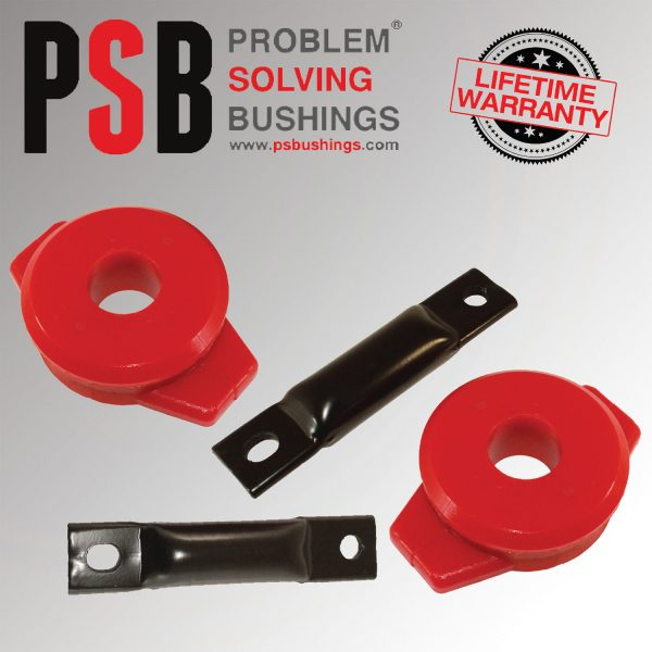 2 x Honda Civic Rear Trailing Arm Polyurethane Bushing Red 1988 to 2000 - PSB580