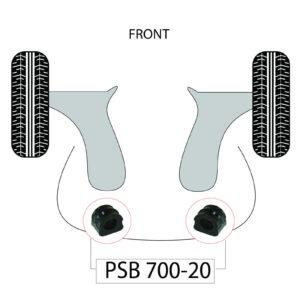 2-x-Audi-TT-MK1-20mm-Front-Anti-Roll-Bar-PSB-Poly-Polyurethane-Bush-1996-2006-183051026849-2
