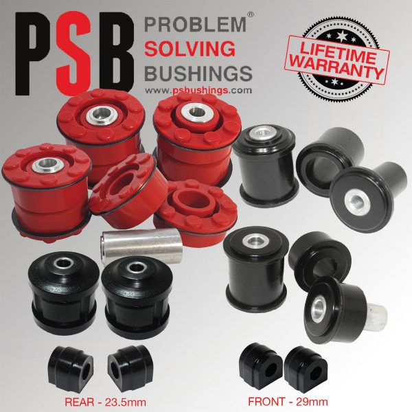 BMW X5 E53 00-06 Front & Rear Subframe/Anti Roll/Arm Polyurethane Bush Kit - PSB648